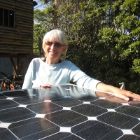 Renee with boat solar cells