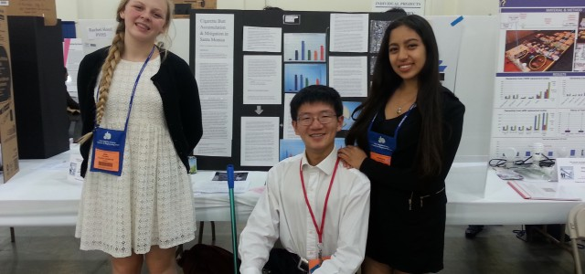 On March 27th, 2015 Team Marine students Kimberly Fuentes, Martin Liu, and Zoe Parcells won first place at the Los Angeles County Science and Engineering Fair in the category of […]